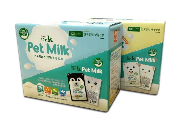건국유업 생활건강, 반려동물 우유 시장 출사표…'닥터케이 펫밀크' 출시