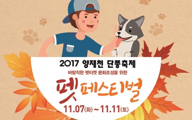 서종예, 강남문화재단과 '2017 양재천 단풍축제 펫페스티벌' 개최!