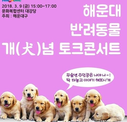 해운대구, 내달 '반려동물 개(犬)념 토크콘서트' 개최
