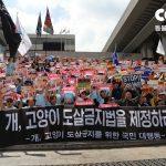 '개, 고양이 도살금지법 통과 촉구' 국민대집회 개최